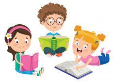 Kids Cartoon Characters, Cartoon Kids, Student Cartoon, Pom Pom Animals, Kids Reading Books, Magazine Crafts, School Clipart, Beautiful Flowers Wallpapers, Pressed Flower Art