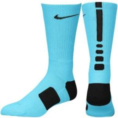 Nike Elite Basketball Crew Socks - Men's - Gamma Blue/Black