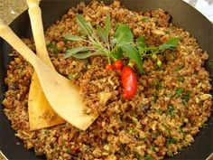 Paçoca de carne seca. Indigenous origin. Dish made with farofa and carne seca (manioca flour and Brazilian dried meat). More commun in the North East, but also found in the South East and South.