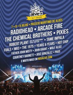 Cartel NOS Alive Festival 2016   Décima Edición  
