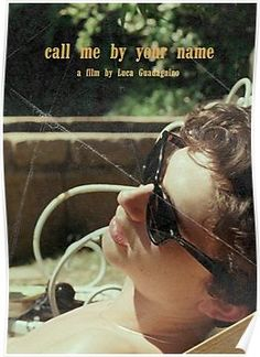 CALL ME BY YOUR NAME Timothée Chalamet Poster