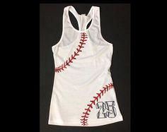Baseball Mom Shirt.Baseball Mom Tank by TNTCustomApparel on Etsy