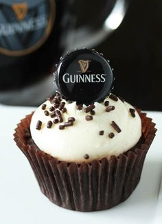 Guinness-Cupcakes by cupcakepedia, guinness, beer, liquor cupcakes, adult cupcakes, food, vanilla bean frosting, desserts
