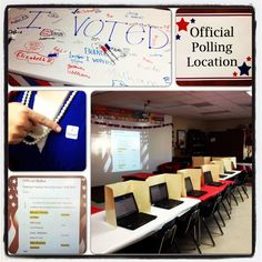 """Create a mock election for students within your classroom. Upcoming or former presidents can be the candidates for the election and students can """"vote"""" based on how well they think they would govern our country. Students will learn about the importance of being an active citizen and having an opinion based on what they have learned about leaders."""