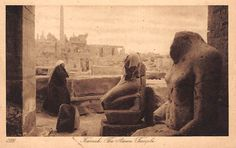 "didoofcarthage: "" Karnak, the Amon Temple Photographed by Lehnert & Landrock of Cairo, about 1925 collotype National Media Museum, U. Old Egypt, Ancient Egypt, France Photography, Vintage Photography, Old Pictures, Old Photos, Vintage Photos, Egypt Museum, Collections Photography"