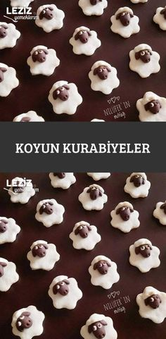 Koyun Kurabiyeler Brownies, Food Art For Kids, High Tea, Baby Food Recipes, Sheep, Stuffed Mushrooms, Food And Drink, Cookies, Cream