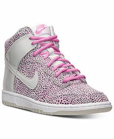 Nike Women's Dunk High Skinny Print Casual Sneakers from Finish Line -  Finish Line Athletic Sneakers - Shoes - Macy's