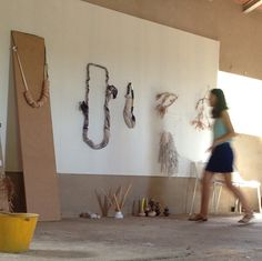 postpatternism:  Clarisse Demory at Villa Lena. Ana kras work hanging. Photo via Lucile Demory.
