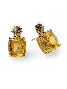 Juicy Couture Cz Stone Pineapple Earring | Piperlime    These are the most adorable earrings I have ever seen!     #earrings #fashion