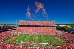 Clemson Football can't wait to be in death valley! Clemson Football Game, Clemson Athletics, Football Stadiums, Clemson Tigers, Football Season, College Football, Death Valley Stadium, Tiger Girl, Tiger Paw