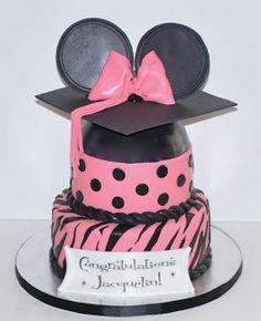 Minnie Mouse Graduation Cake  DessertsByRondi.com