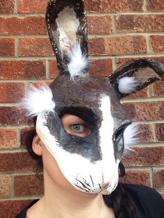 A personal favourite from my Etsy shop https://www.etsy.com/uk/listing/267595764/rabbit-mask-paper-mache-animal-mask