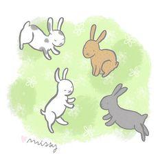 Illustration Friday - Jump #illustration #bunny #rabbit #jump #art #drawing