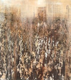 "Saatchi Art Artist Dario Moschetta; Collage, ""Folla!"" #art"