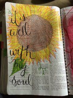 love the flower idea! ♡ on pinny, on insta ♡ Scripture Doodle, Scripture Art, Bible Art, Faith Bible, My Bible, Bible Scriptures, Bible Study Journal, Art Journaling, Illustrated Faith