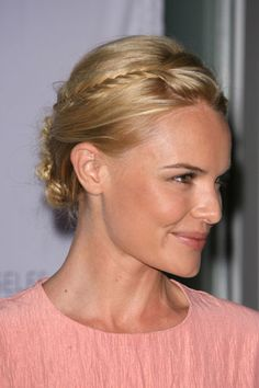 Kate Bosworth shows off this pretty hairstyle for fine hair Cool Braid Hairstyles, My Hairstyle, Pretty Hairstyles, Hairstyle Ideas, Hair Ideas, Haircuts For Medium Hair, Short Hair Cuts, Medium Hair Styles, Haircut Styles For Women