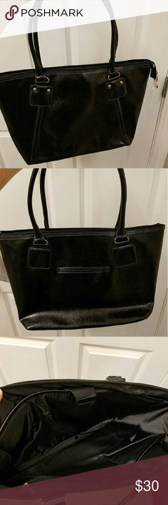 """Black Laptop Bag Laptop Bag with strap to hold laptop in place Never used 18"""" L 12"""" H 5"""" W Bags Laptop Bags"""