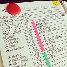 v organised planner/day plan/productivity plan