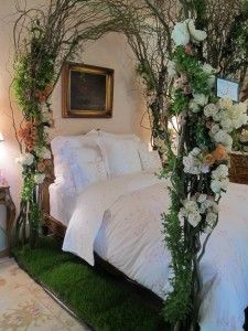 Tree Branch Bed Canopy- heather this is so you, you could do this in your room!