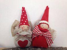 i Poppies.... Simpatici folletti natalizi con feltro e nastri