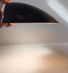 RARE 1960s Minimalist Black Half Moon Sconce by Charlotte Perriand (att.) - Steph Simon: http://www.ebay.com/itm/-/253163540742?