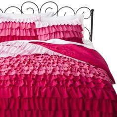 I would love this but I can't really see my boyfriend agreeing to it lol. Great for a little girl's room!! :)  Xhilaration® Ruffle Comforter Set