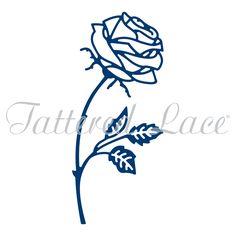 Long Stemmed Rose (D957) | Tattered Lace