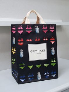 Gilly Hicks Shopping Bag Paper Carrier Bags, Paper Bags, Box Packaging, Packaging Design, Underwear Packaging, Paper Bag Design, Cardboard Design, Gift Box Design, Gilly Hicks