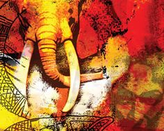 See   Artist Jabu Awesome Paintings, Beautiful Paintings, Artistic Photography, Art Photography, Photography Illustration, Elephant Love, Beauty Inside, 2d Art, Looks Cool