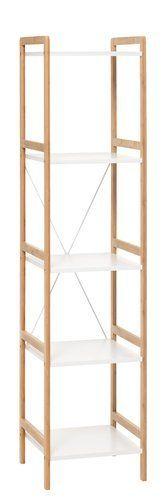 Regał BROBY 5 wąs. bambus/biały | JYSK 175zl 150cm