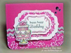Happy Birthday ~*~ Sugar Coated Sweetness rubber stamp set ~*~ Savvy Sayings rubber stamp set ~*~ Fabulous Frames rubber stamp set ~*~ Brighten My Day paper stack ~*~ From Red Rubber Designs www.RedRubberDesigns.com