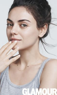 Mila Kunis goes makeup-free for Glamour's August 2016 cover shoot.