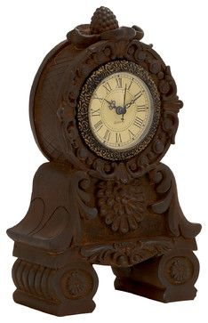 Unique Styled Superb Ceramic Table Clock traditional-desk-and-mantel-clocks