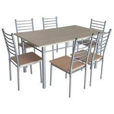 Table A Manger Complet Table de cuisine salle à manger + 6 chaises ELLA