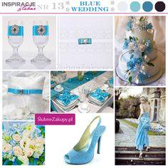 Błękit to kolor nieba i marzeń - idealny jako kolor przewodni wesela.
