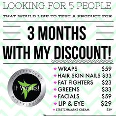 Official site of Tracy Gunnels, Triple Diamond Leader, It Works! Have you tried that crazy wrap thing? Changing lives one wrap at a time! It Works Wraps, My It Works, Stretch Mark Cream, Stretch Marks, It Works Marketing, Exfoliating Peel, It Works Distributor, Independent Distributor, Fitness Models