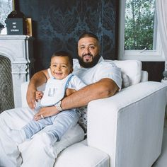 DJ Khaled (2/2): @djkhaled and son Asahd, photographed May 25 at his home in Beverly Hills. Read our exclusive interview with him online now | Photo by @elizabethrweinberg for Newsweek #AssignmentNewsweek