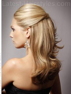 Half Up Elegant Style for Prom Long Hair