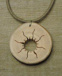 Wood Pendant - Sun
