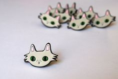 Enamel cat lapel pin enamel pin lapel pin I by ilikeCATSshop