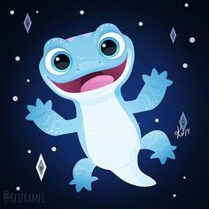 Bruni the very cute Fire Spirit Salamander from Disney's Frozen 2 Frozen Wallpaper, Disney Phone Wallpaper, Cartoon Wallpaper, Cute Disney Drawings, Cute Drawings, Disney Vintage, Cute Disney Characters, Pinturas Disney, Whatsapp Wallpaper