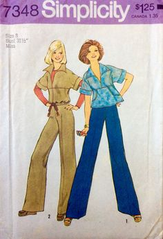 Simplicity 7348 UNCUT Misses Pullover Top and Pants by Lonestarblondie on Etsy