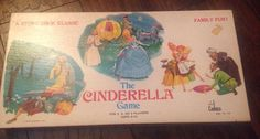 1975 CINDERELLA BOARD GAME WALT DISNEY GAME by CADACO Inc. VINTAGE #CADACO