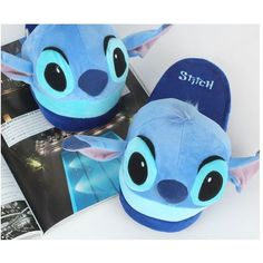 Disney Stitch Slipper Plush Doll Cushion Slippers Lilo and Stitch Toy... ❤ liked on Polyvore featuring shoes