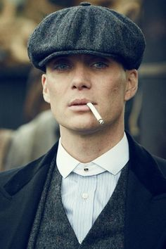 Timeless Cool: Cillian Murphy as Tommy Shelby on Peaky Blinders.