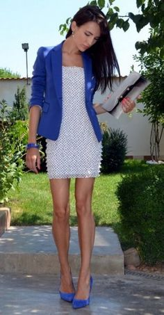5 Fashion Inspirations for Your Little White Dress image blue and white strapless dress 312x600