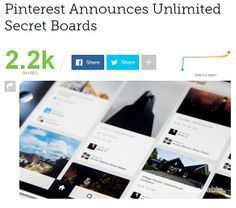 Pinterest Announces Unlimited Secret Boards Social Media Trends, Social Networks, Bait And Switch, Secret Boards, Community Boards, Pinterest For Business, Things To Think About, Digital Marketing, How To Become