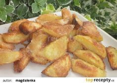 Strouhankové brambory recept - TopRecepty.cz Snack Recipes, Snacks, Side Dishes, French Toast, Chips, Potatoes, Chicken, Cooking, Breakfast