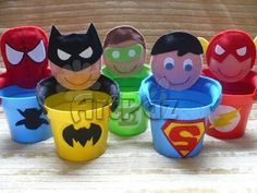 Such a great idea Superman Birthday, Batman Party, Superhero Party, Avenger Party, Foam Crafts, Diy And Crafts, Crafts For Kids, Ideas Para Fiestas, Fiesta Party