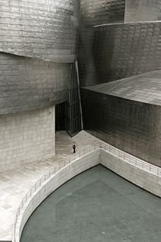 Sculptural spaces defined by Frank Gehry's Guggenheim Museum Bilbao. Completed in 1997.